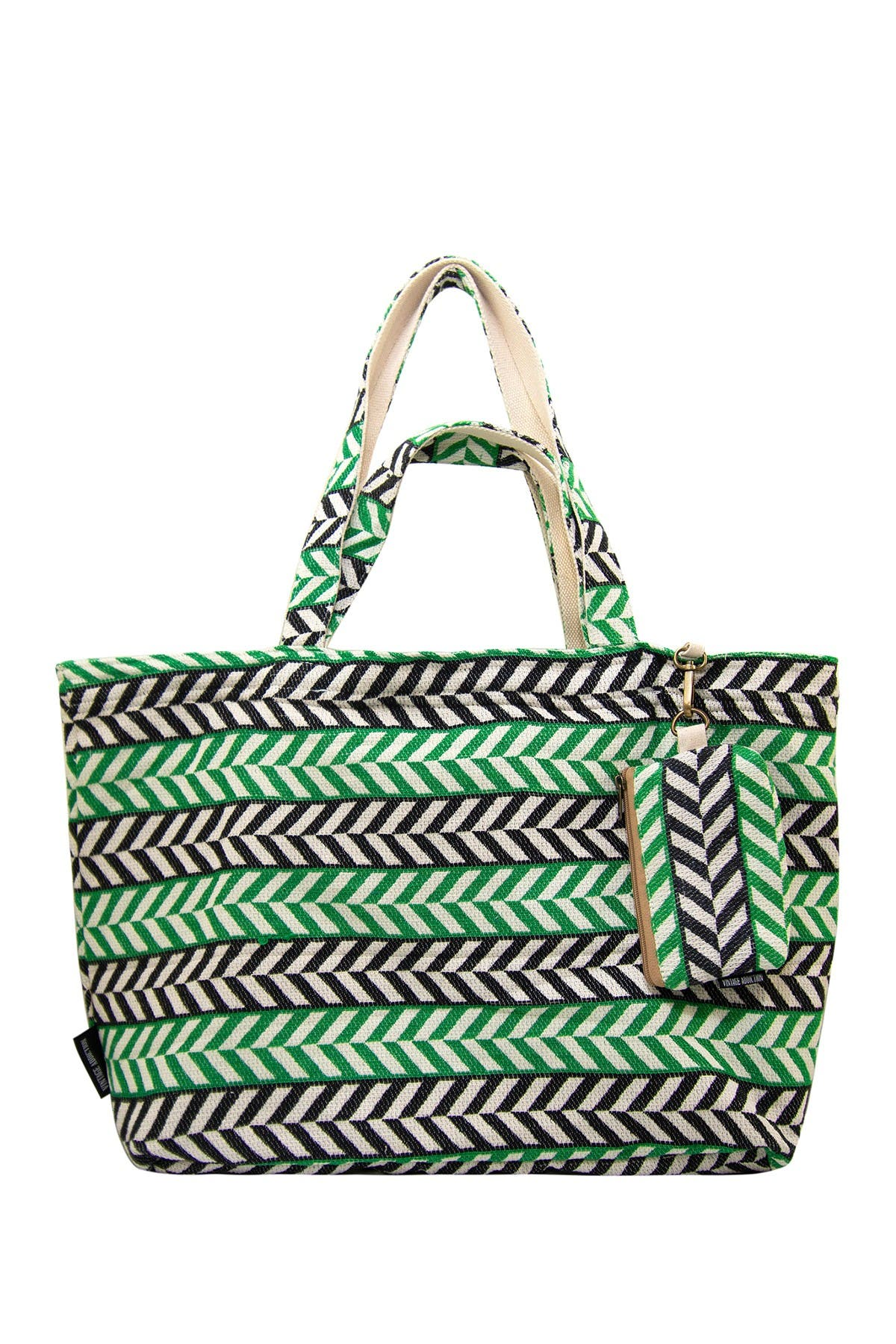 Image of Vintage Addiction Jacquard & Canvas Tote with Matching Clutch