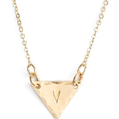 Nashelle 14K-Gold Fill Initial Triangle Necklace