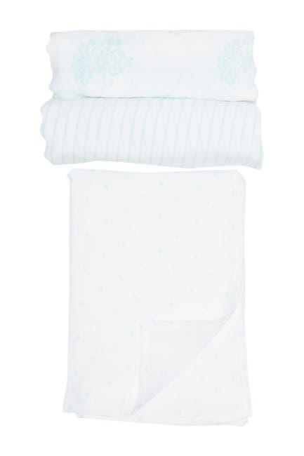 Image of Little Me Medallion Swaddle Blankets - Pack of 3
