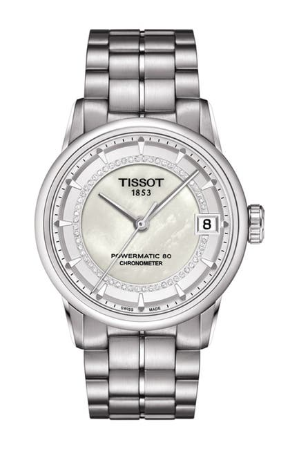 Image of Tissot Women's Luxury Diamond Mother of Pearl Watch, 33mm - 0.17 ctw