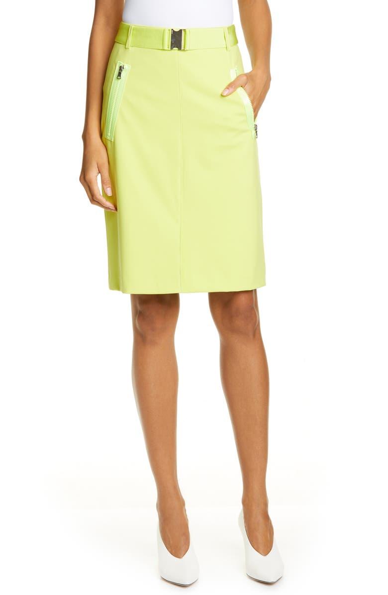 HUGO Ralinas Belted Pencil Skirt, Main, color, 400
