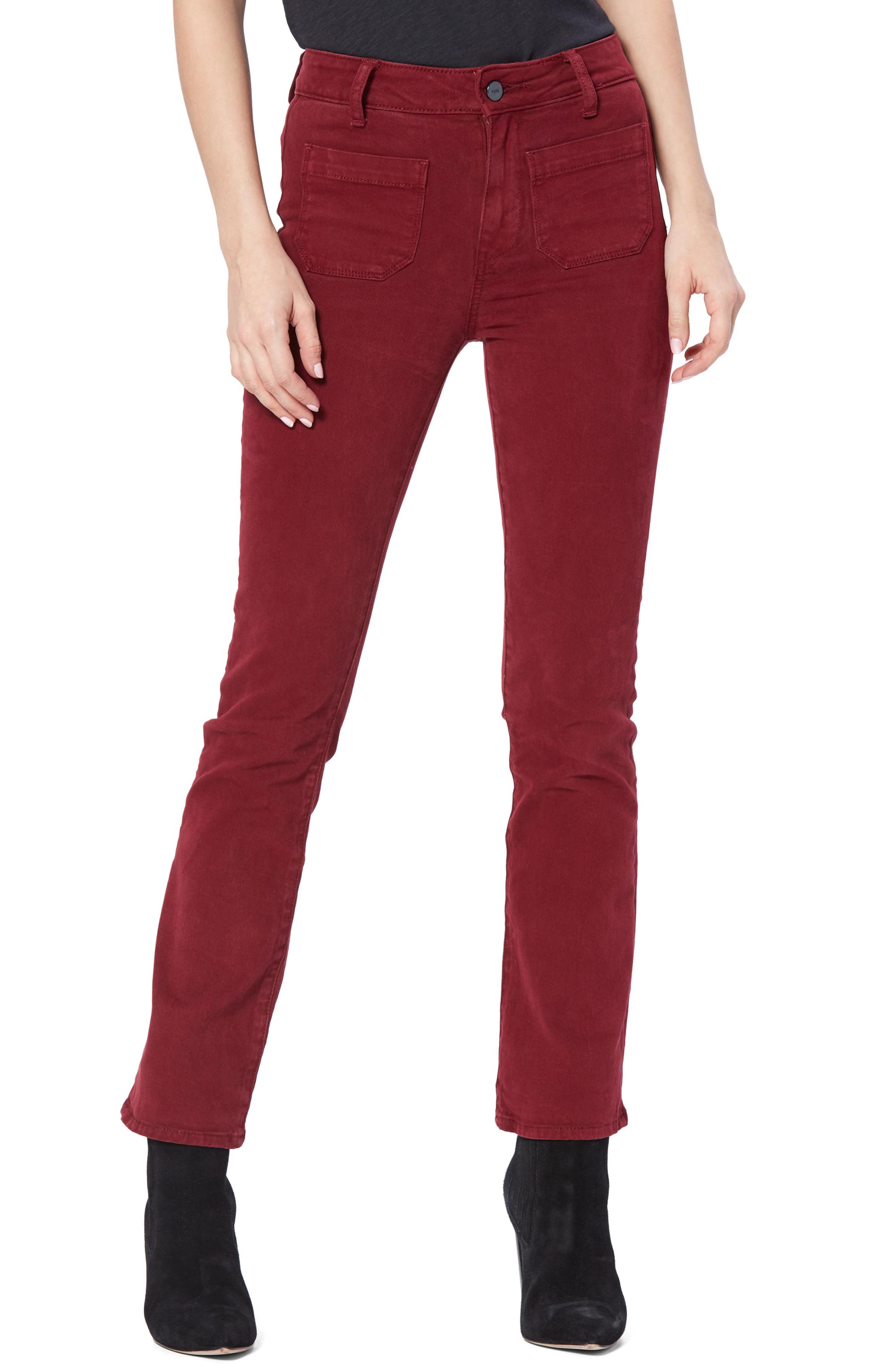 Image of PAIGE Claudine High Waist Patch Pocket Crop Flared Jeans