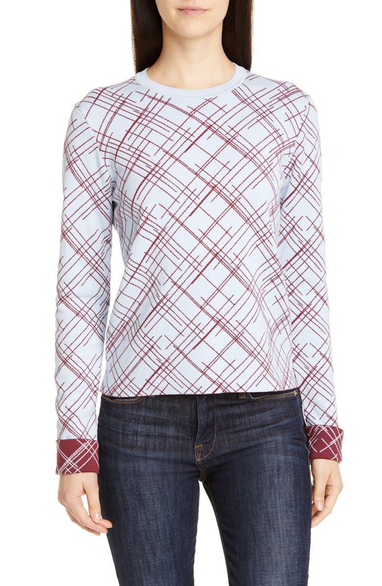 EQUIPMENT Sadonne Silk & Cotton Sweater, Main, color, BLUE AERE TAWNY PORT
