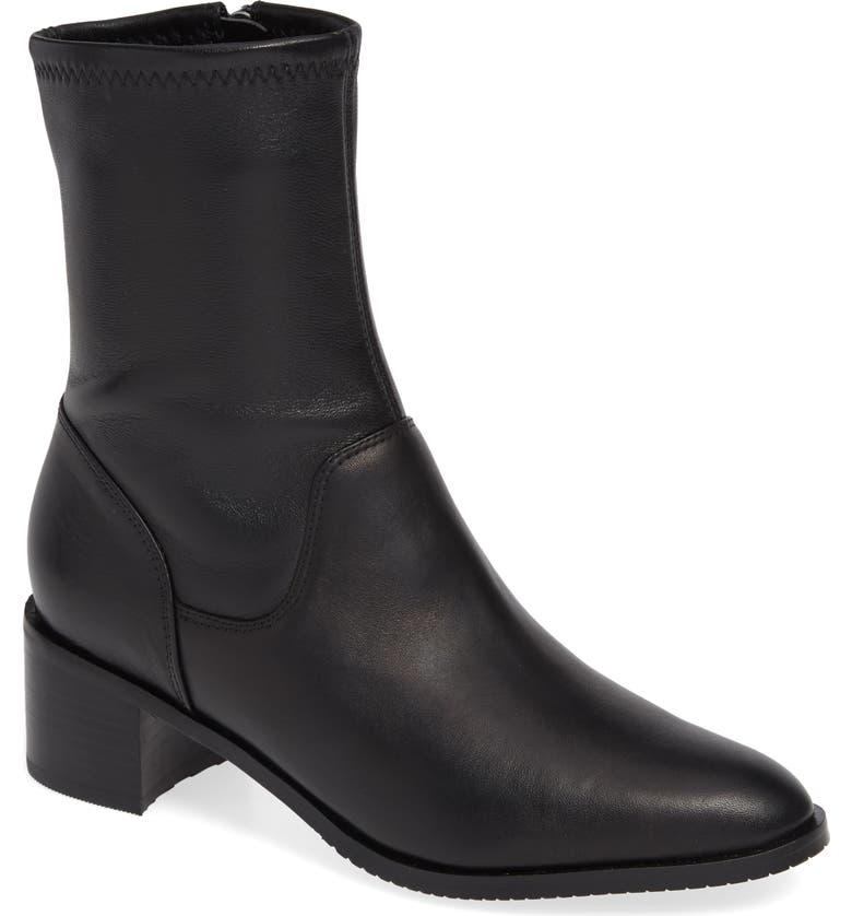 CLARKS<SUP>®</SUP> Poise Leah Boot, Main, color, BLACK LEATHER