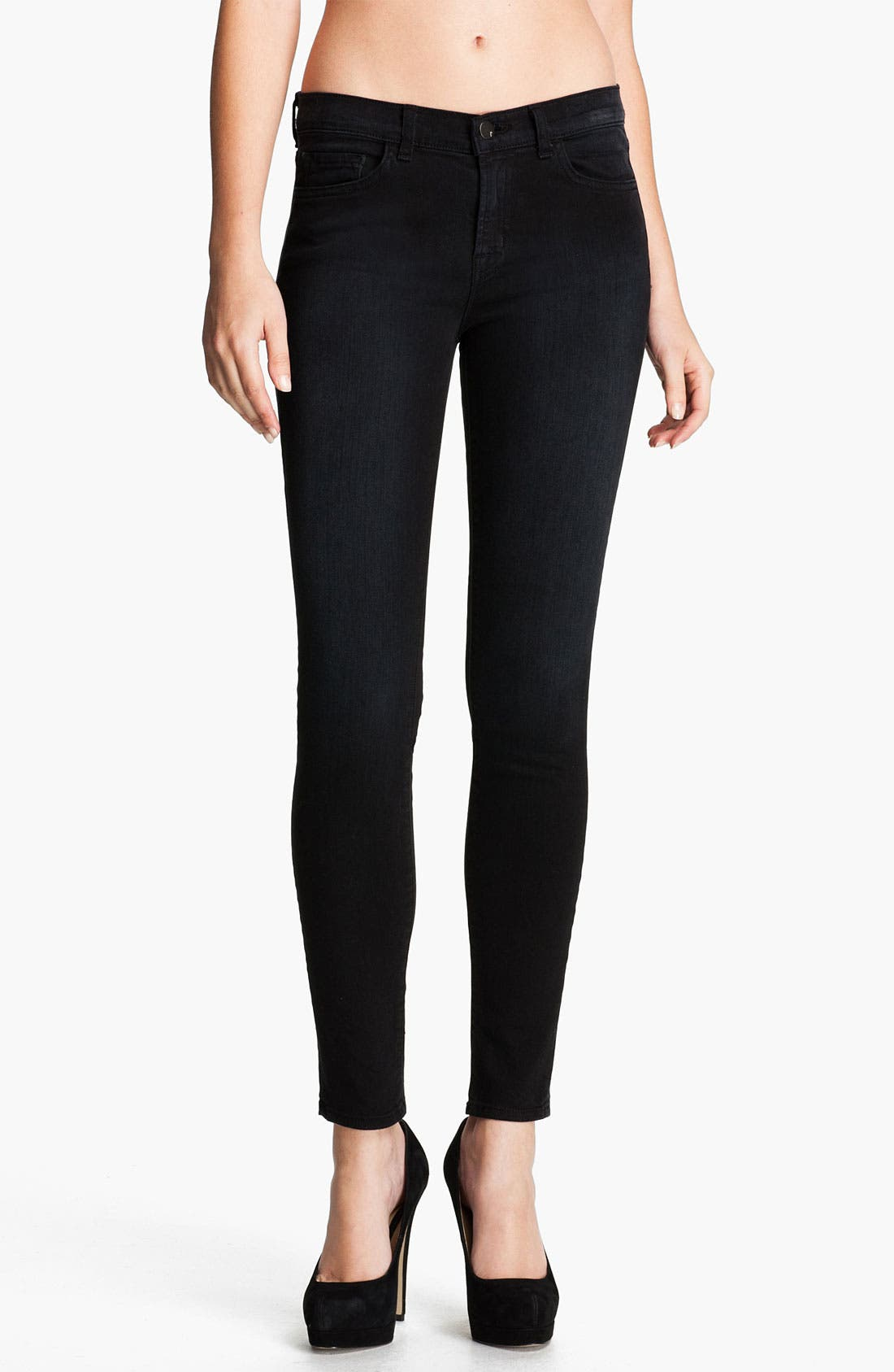 ,                             Skinny Stretch Ankle Jeans,                             Main thumbnail 4, color,                             002