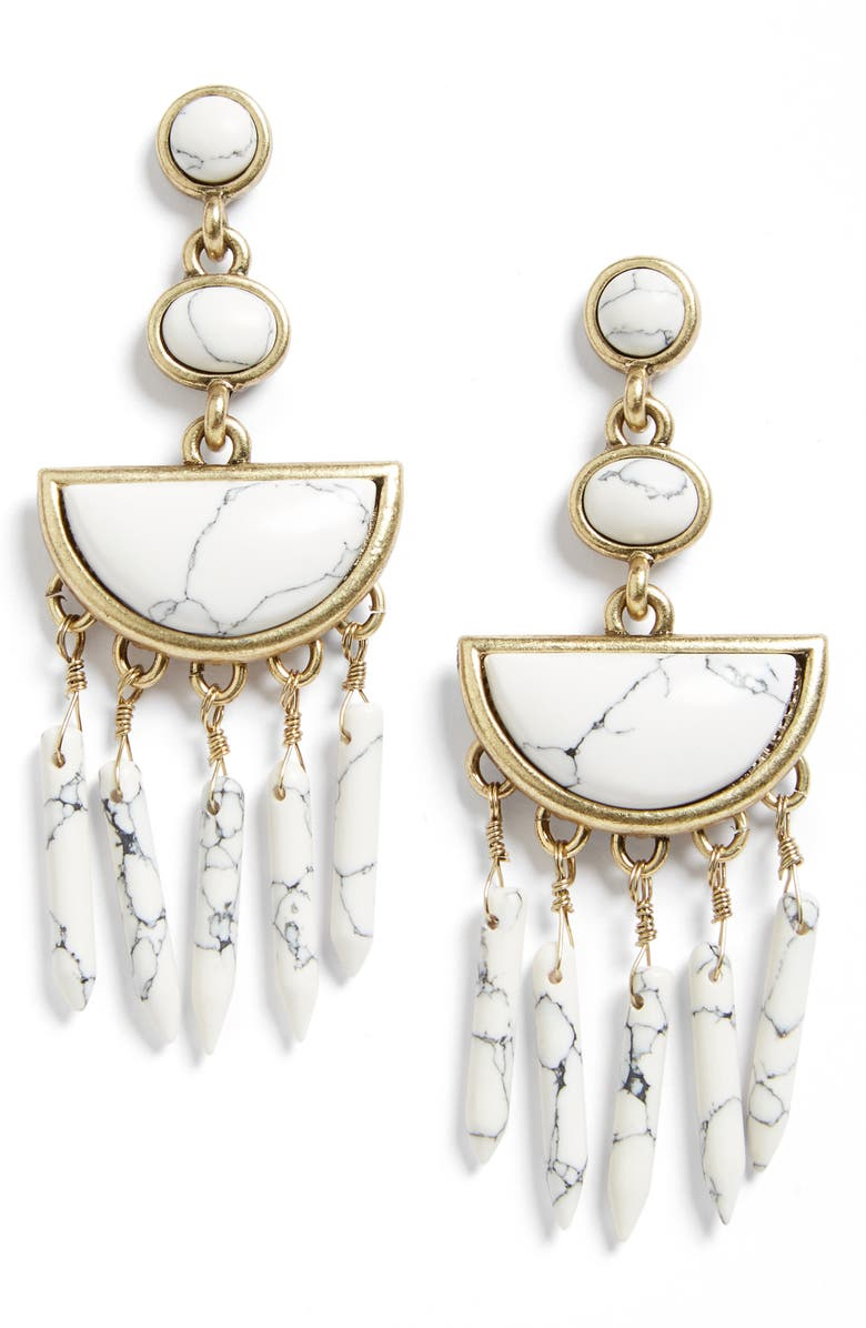 BAUBLEBAR Nora Drop Earrings, Main, color, 100