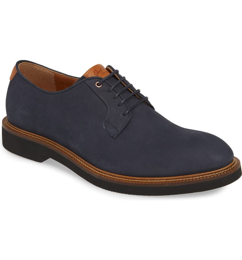 GOOD MAN BRAND Work Wear Plain Toe Derby, Main, color, NAVY / VACHETTA