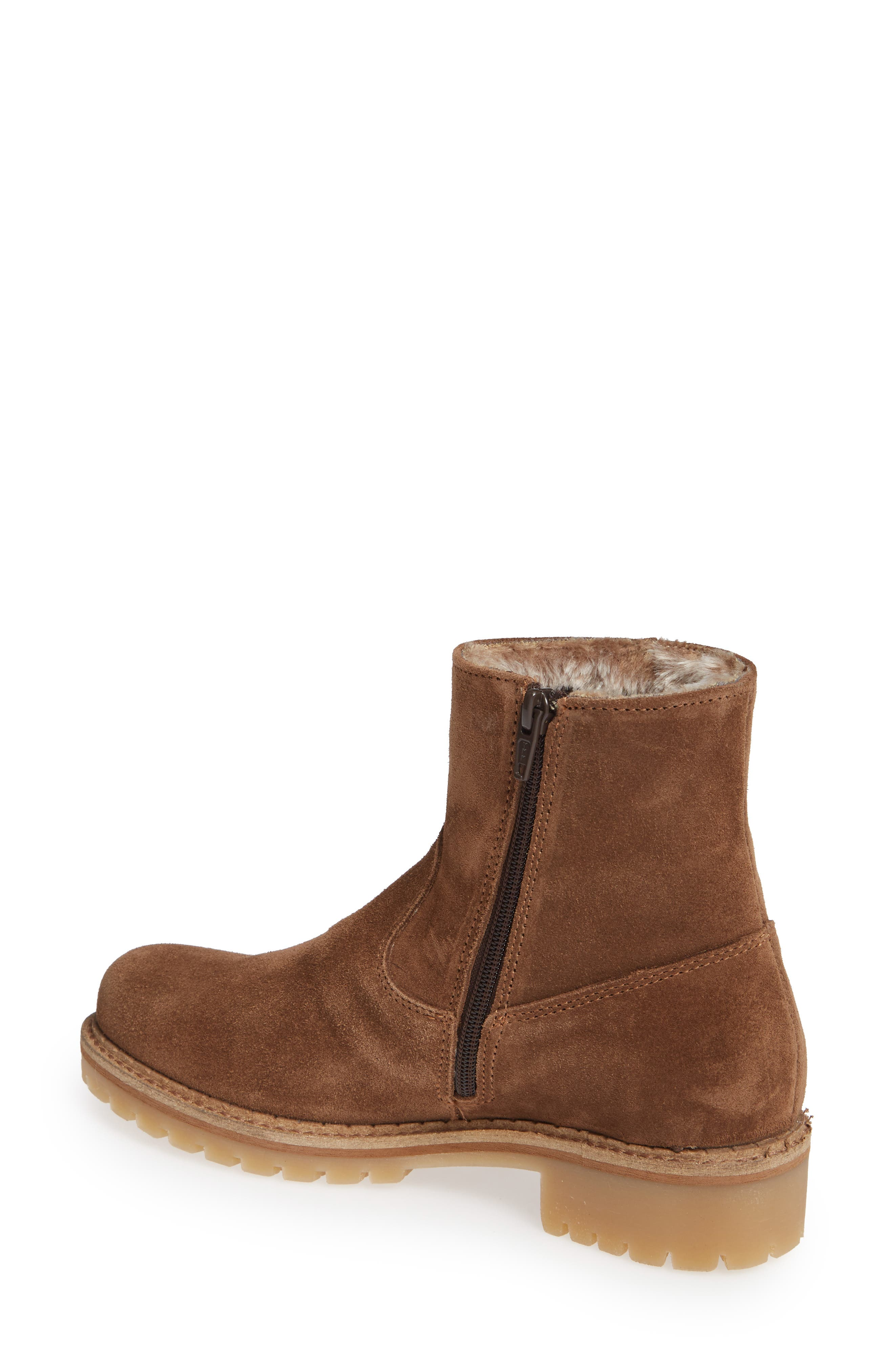 ,                             Host Faux Fur Lined Boot,                             Alternate thumbnail 2, color,                             TAN SUEDE