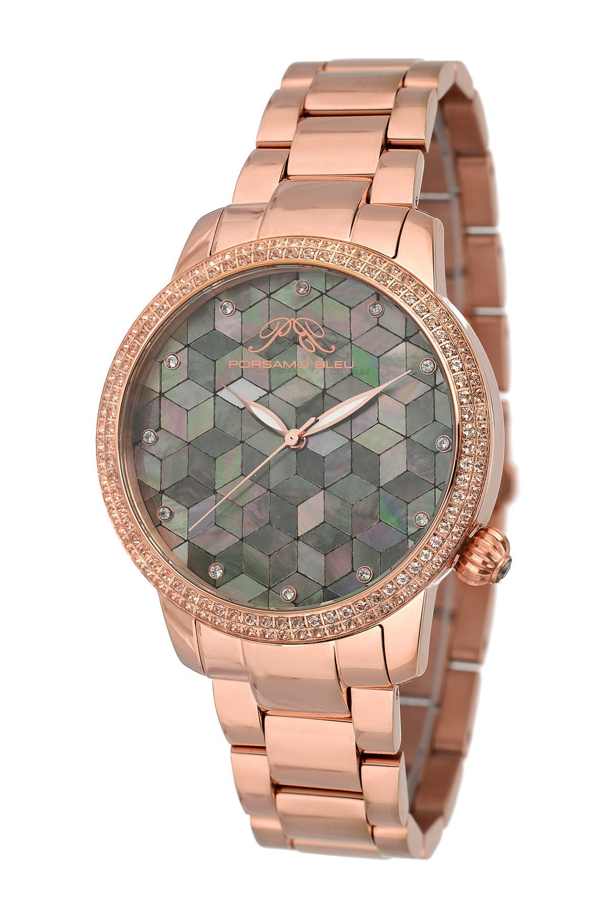 Image of Porsamo Bleu Women's Evelyn Topaz Stone Quartz Watch, 38mm