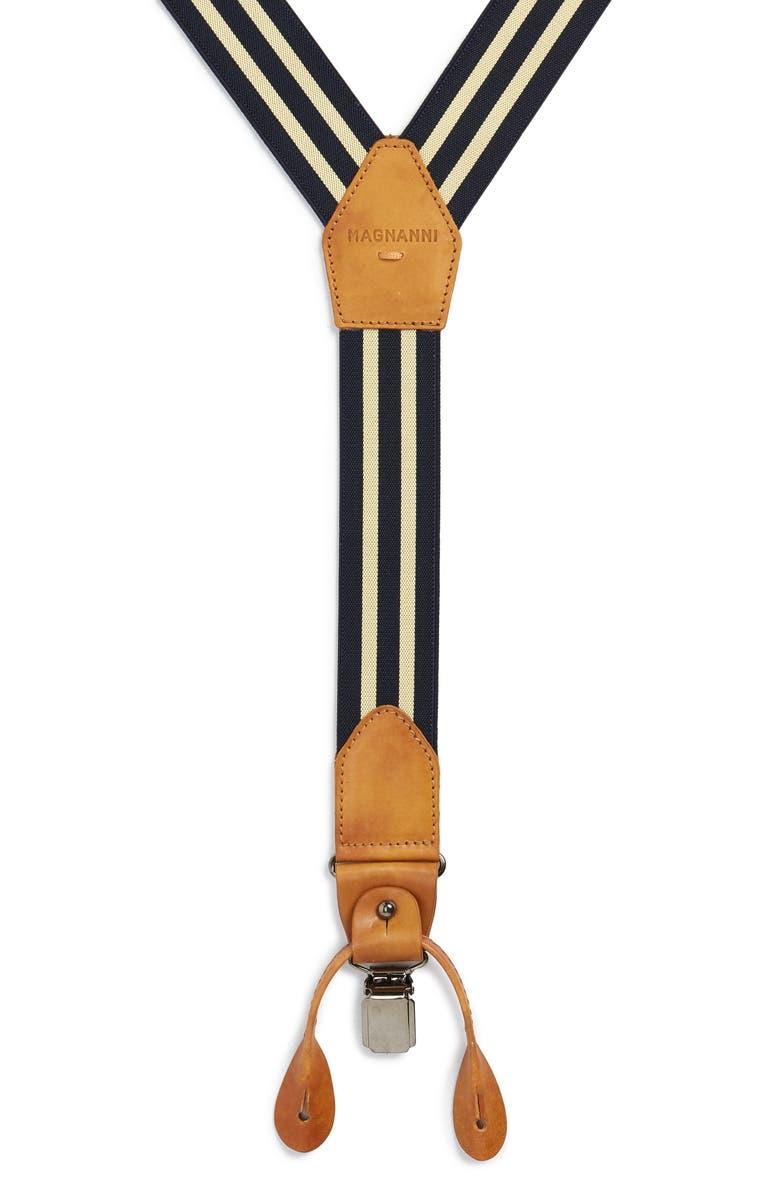 MAGNANNI Hugo Suspenders, Main, color, NAVY / YELLOW