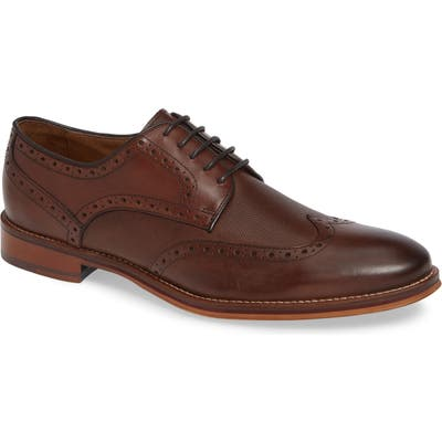 Johnston & Murphy Conard Embossed Wingtip, Brown