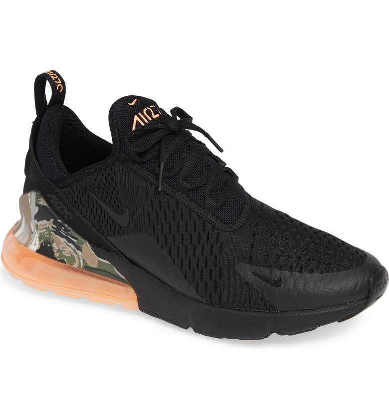 Nike Air Max 270 React Neoprene And Faux Leather Sneakers In