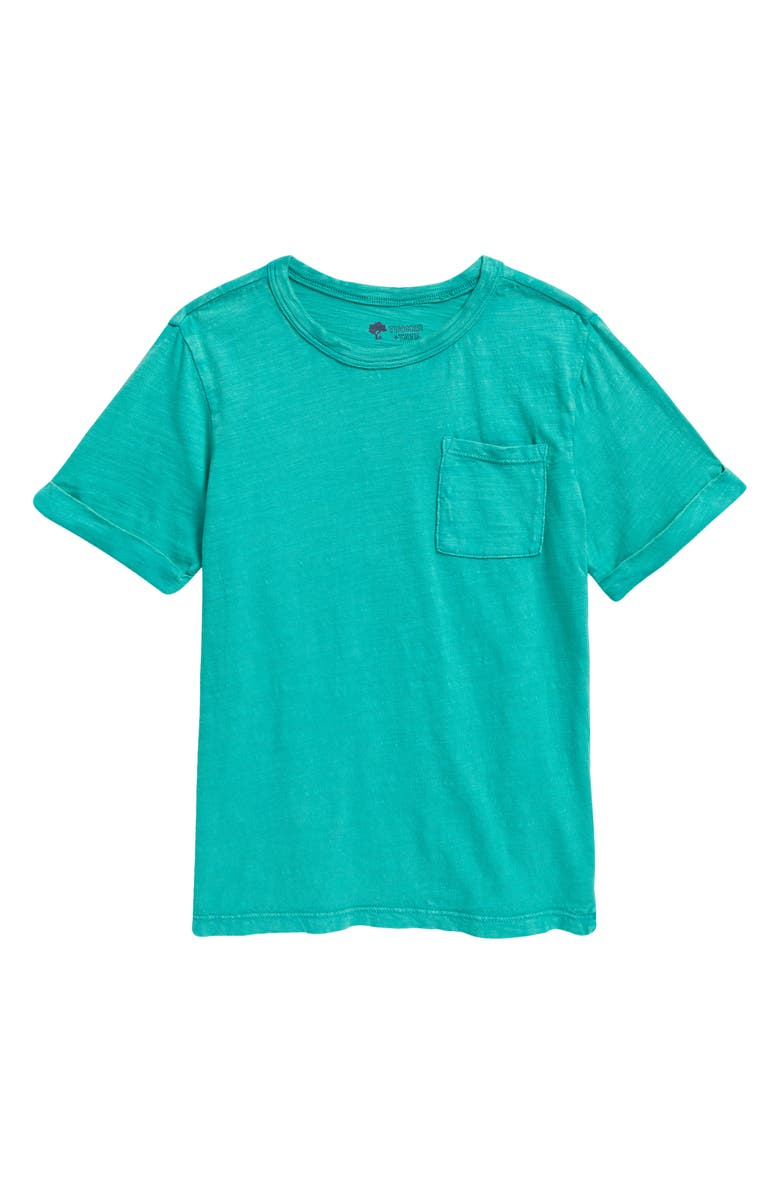 TUCKER + TATE Kids' Relaxed Pocket T-Shirt, Main, color, GREEN HOLLY