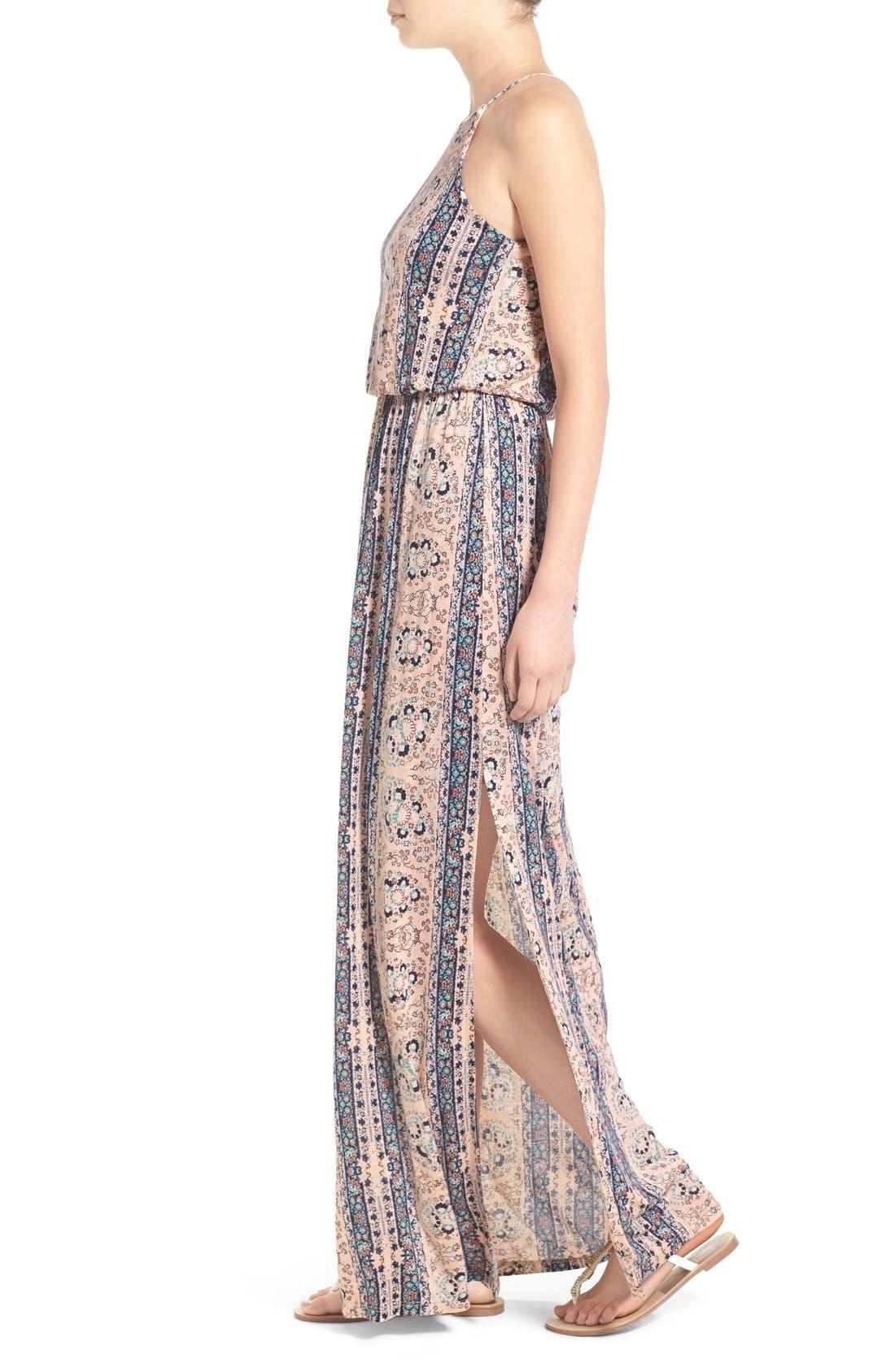 ,                             High Neck Maxi Dress,                             Alternate thumbnail 76, color,                             252