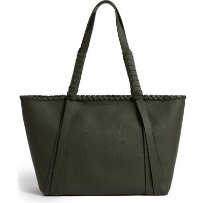 Allsaints Small Kepi East/west Leather Tote - Green