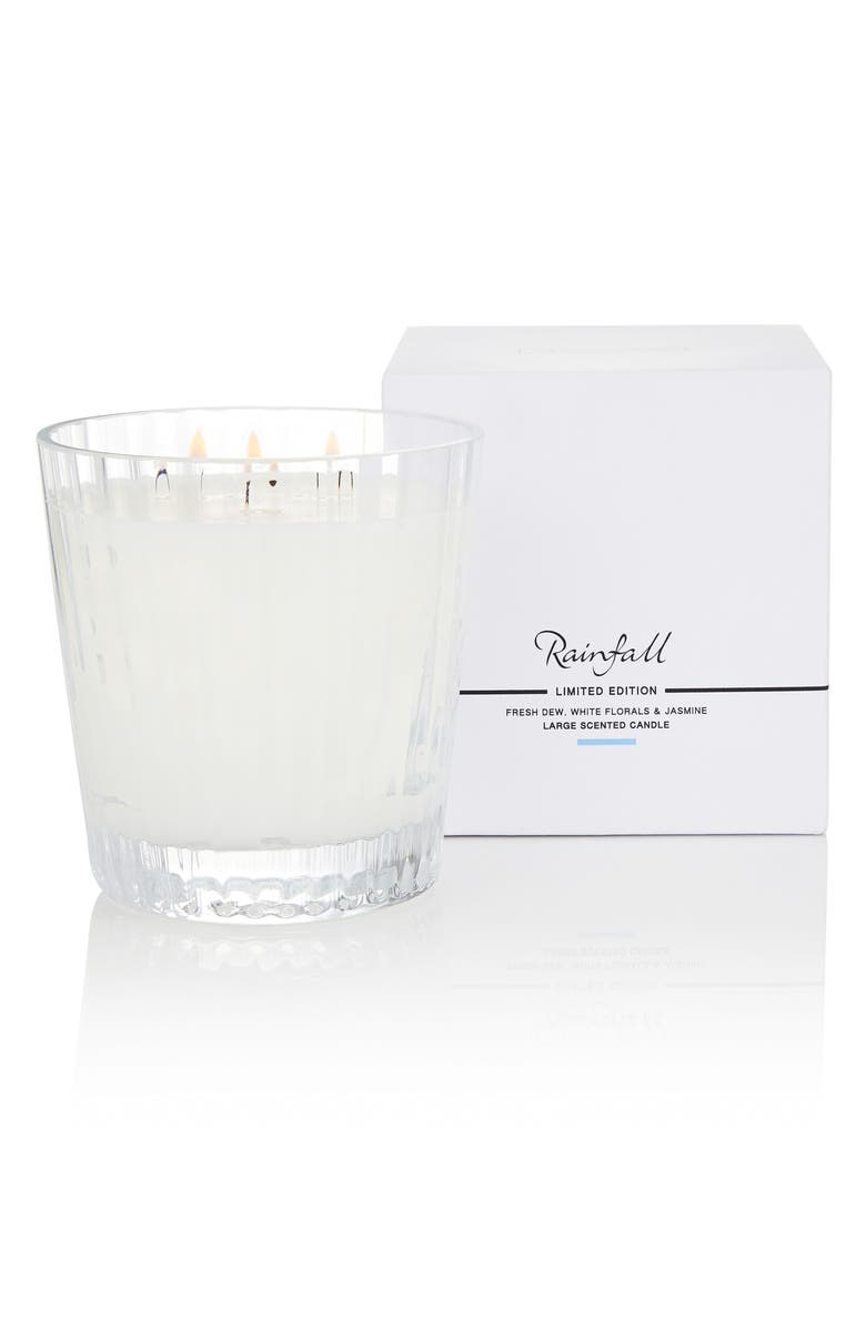 THE WHITE COMPANY Large Ribbed Candle, Main, color, 100
