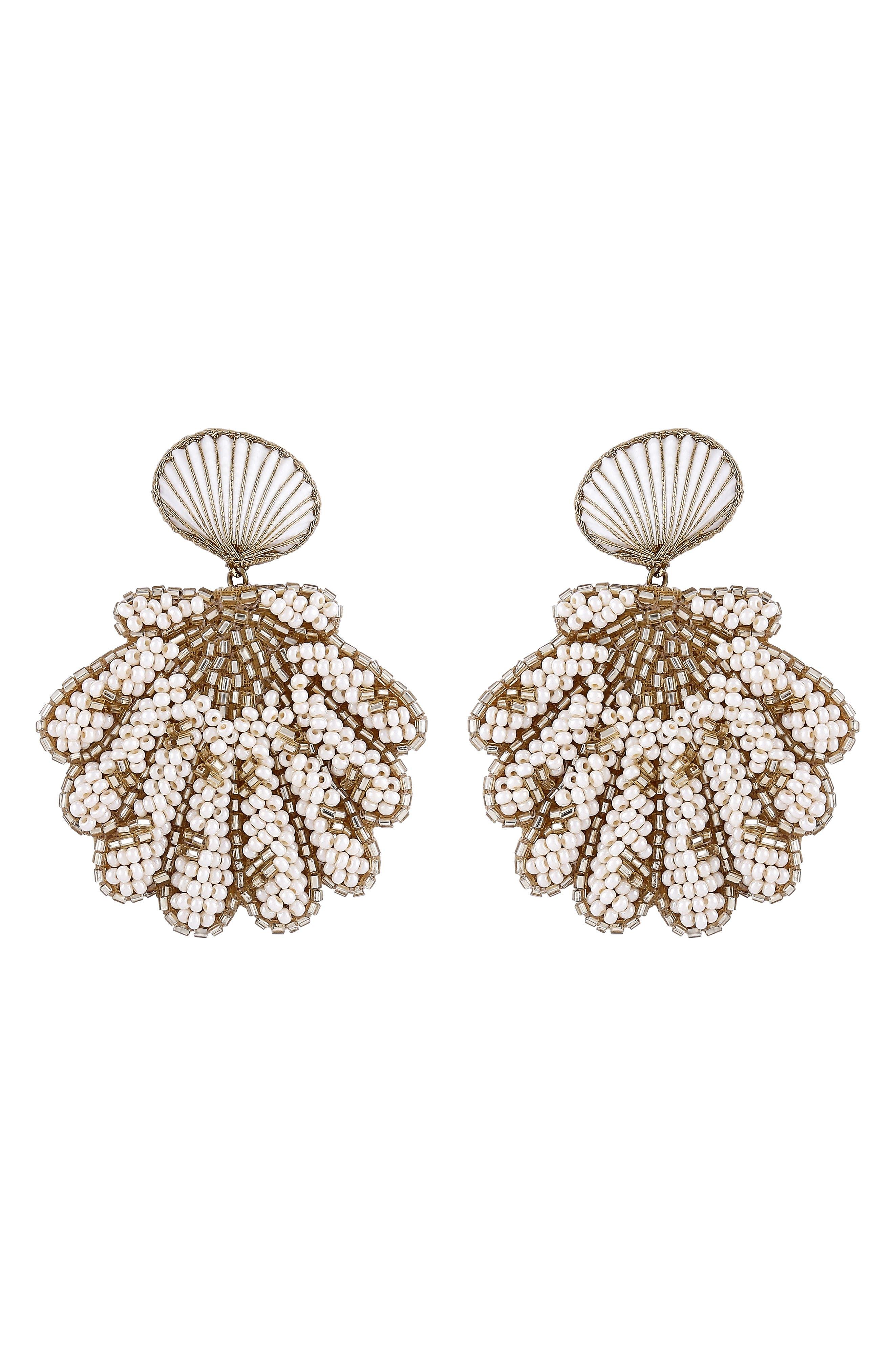 Pennie Shell Drop Earrings