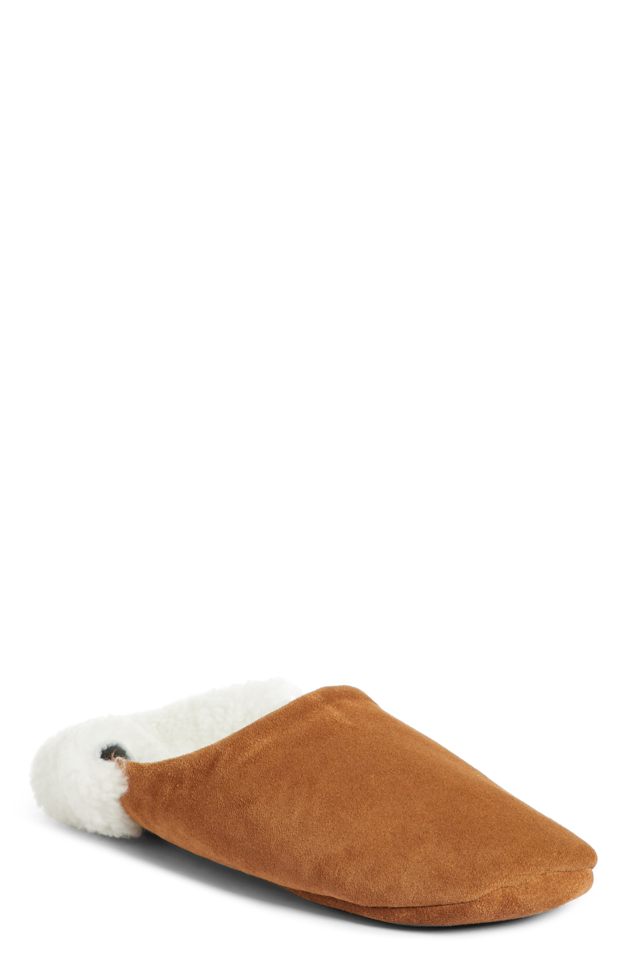 ,                             Moroccan Indoor Slipper,                             Main thumbnail 1, color,                             SADDLE/ IVORY