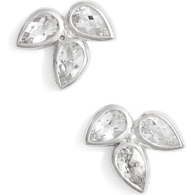 Anzie Micro Bouquet White Topaz Post Earrings