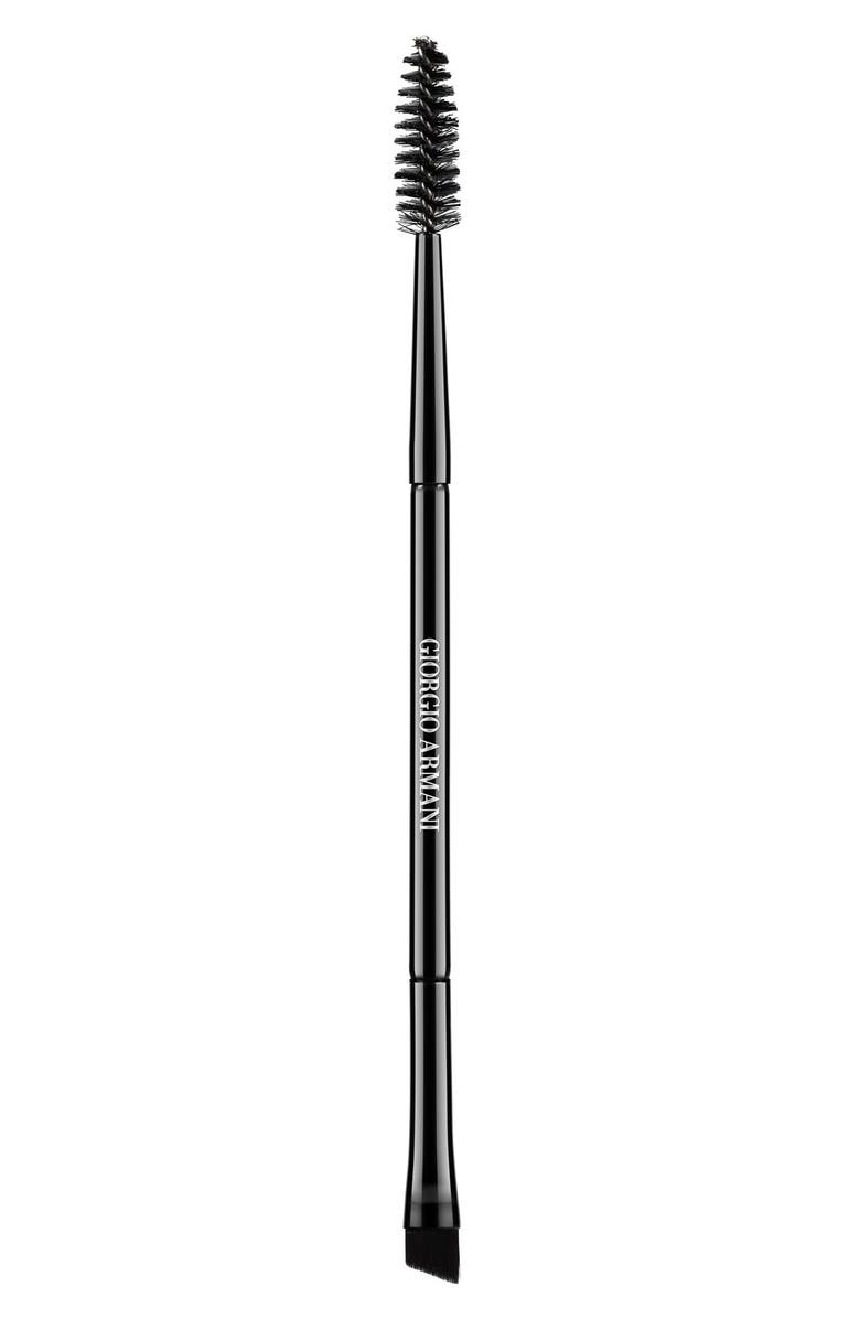 GIORGIO ARMANI Made to Measure Dual-Sided Eye & Brow Brush, Main, color, NO COLOR