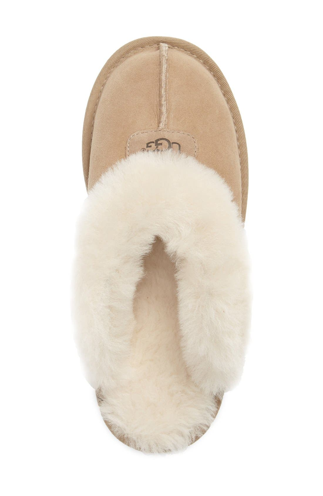,                             Genuine Shearling Slipper,                             Alternate thumbnail 190, color,                             SAN