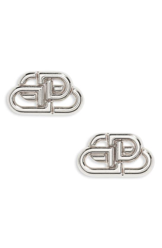 Balenciaga Earrings INTERLOCKING LOGO STUD EARRINGS