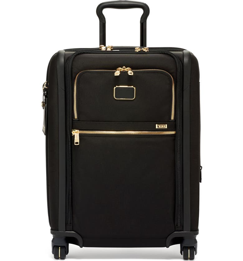 TUMI Alpha 3 22-Inch Wheeled Dual Access Continental Carry-On Bag, Main, color, BLACK/ GOLD