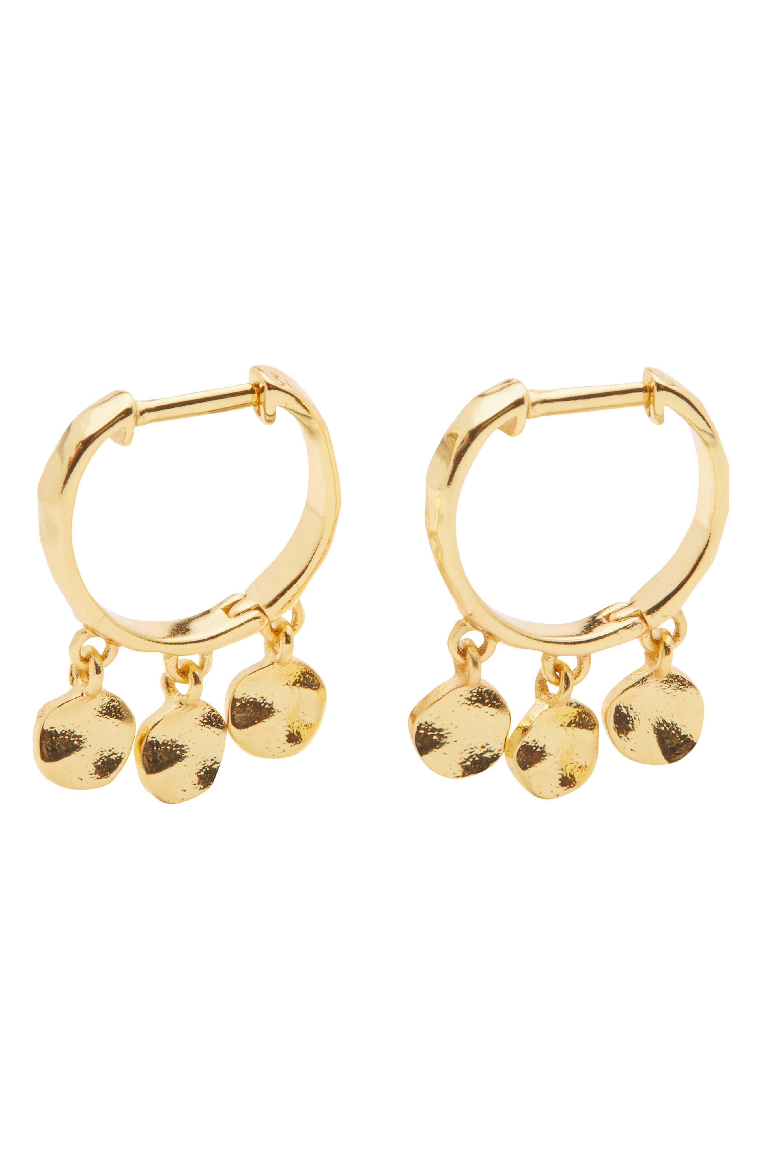 Chloe Mini Disc Huggie Hoop Earrings