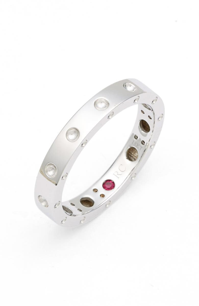 ROBERTO COIN 'Symphony - Pois Moi' Ruby Band Ring, Main, color, WHITE GOLD