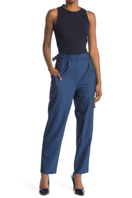 Image of Tibi Tropical Wool Blend Straight Pants
