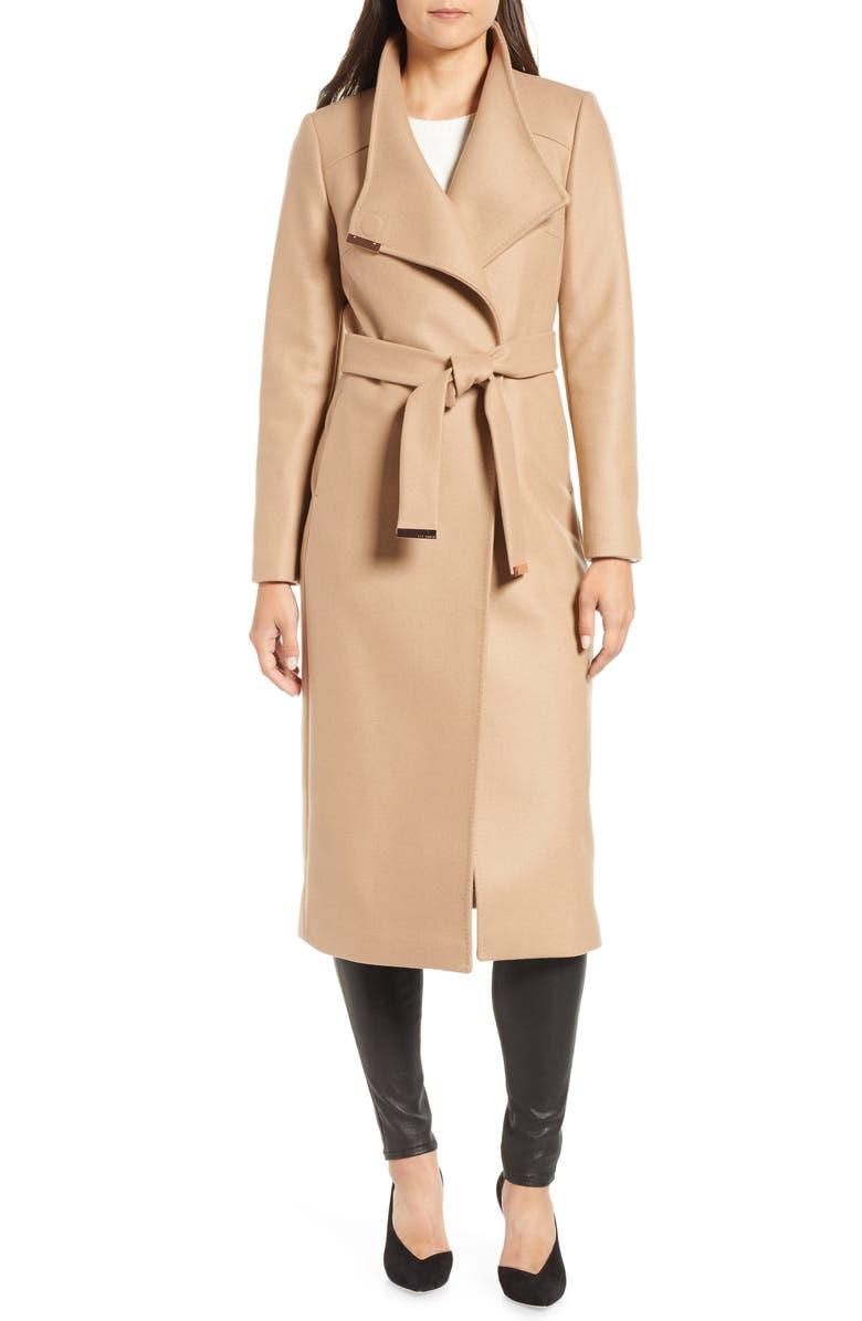 TED BAKER LONDON Ted Baker Londer Midi Wool Wrap Coat, Main, color, 271