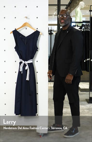 Positano V-Neck Cotton Midi Dress, sales video thumbnail