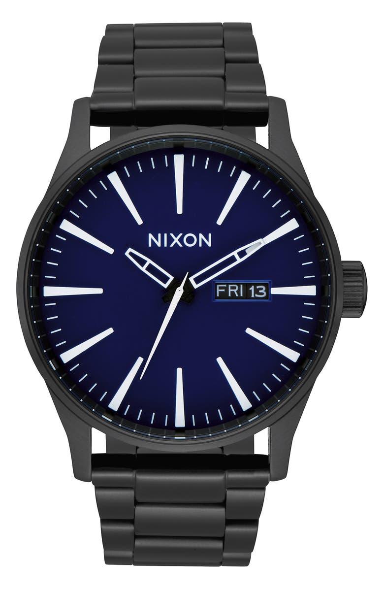 NIXON Sentry Bracelet Watch, 42mm, Main, color, 005