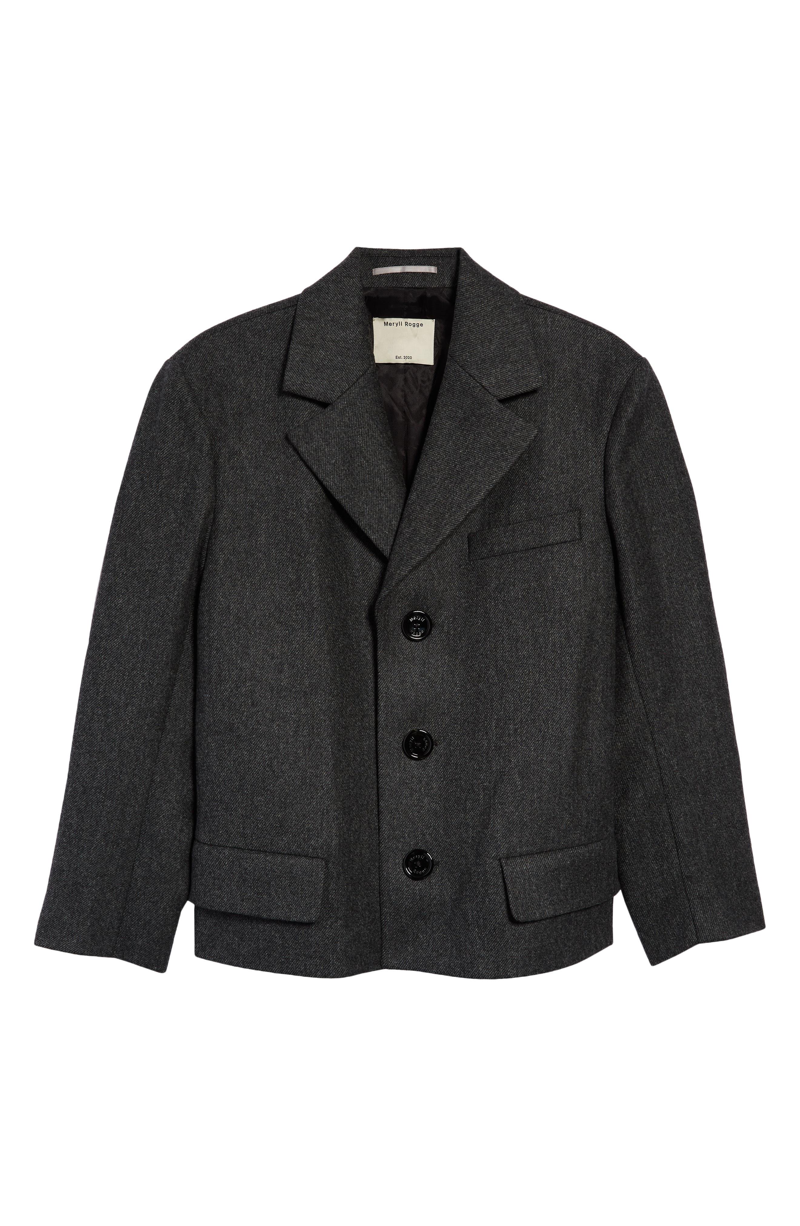 Crop Wool Blazer