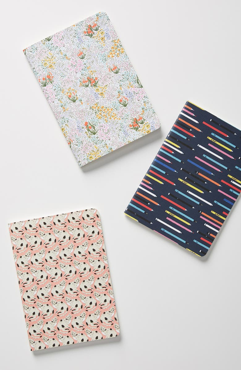ANTHROPOLOGIE 52 Convo Set of 3 Journals, Main, color, 400
