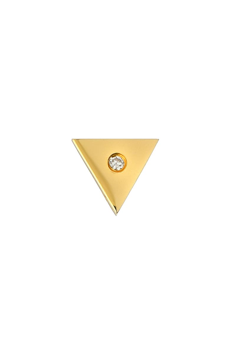 MINI MINI JEWELS Forever Collection - Triangle Diamond Stud Earring, Main, color, YELLOW GOLD