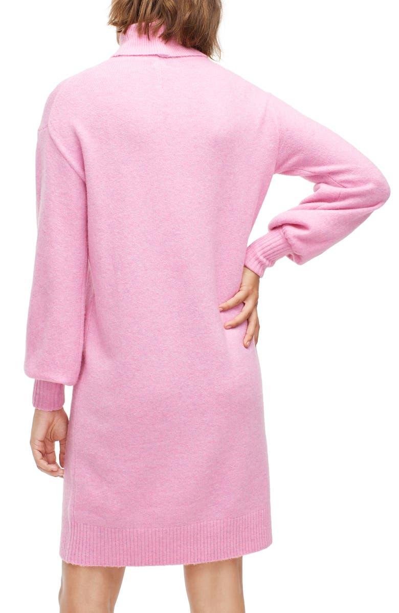 J.CREW Supersoft Turtleneck Sweater Dress, Main, color, HEATHER WILD PETUNIA