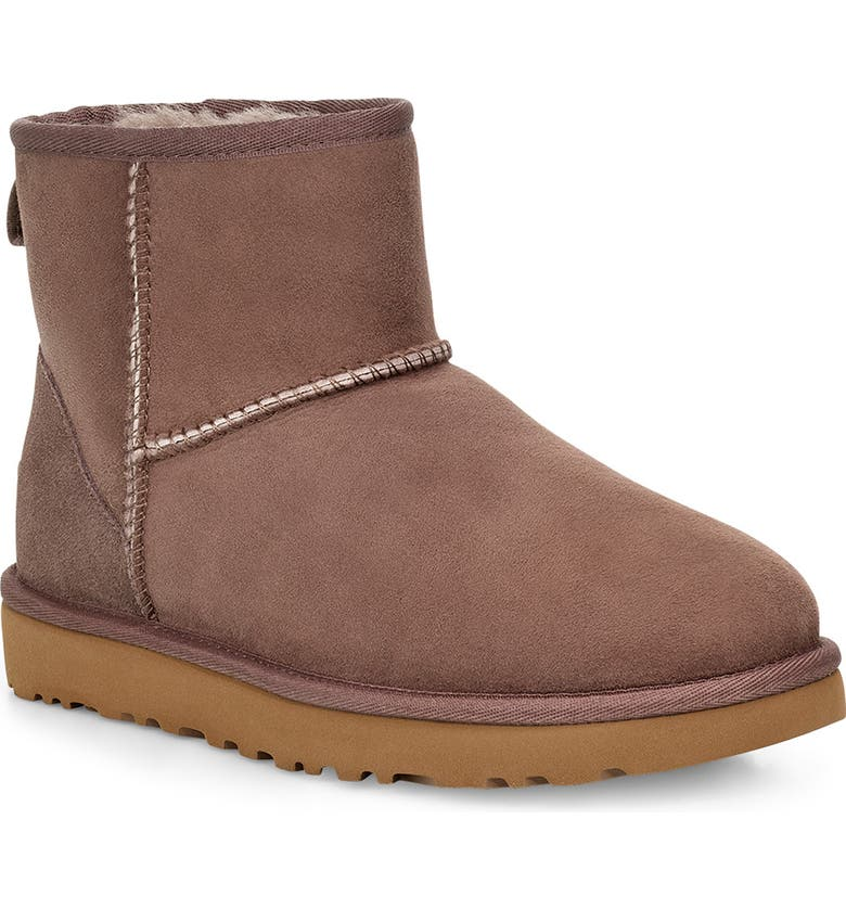 UGG<SUP>®</SUP> Classic Mini II Genuine Shearling Lined Boot, Main, color, MOLE SUEDE