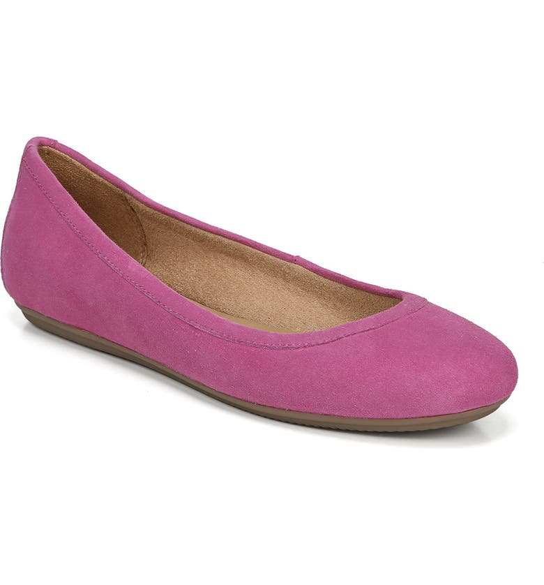 NATURALIZER Brittany Flat, Main, color, PINK SUEDE