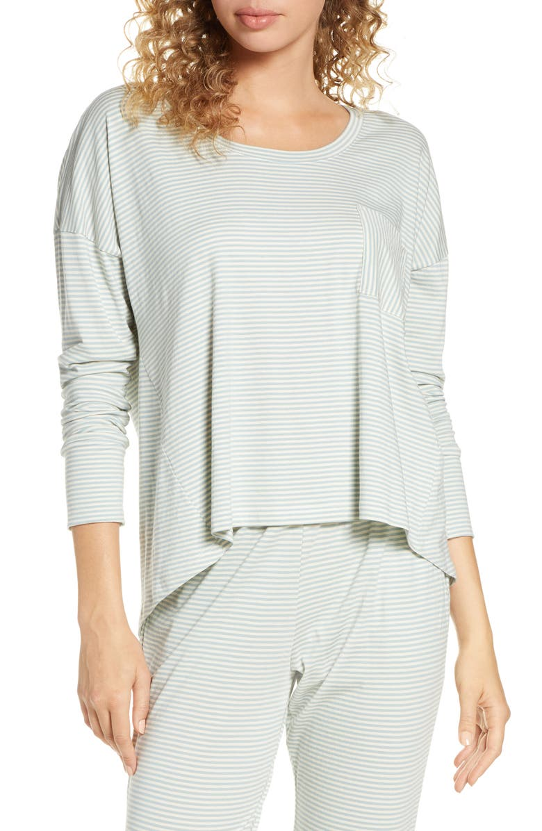 Eberjey Stripes High Low Pajama Top