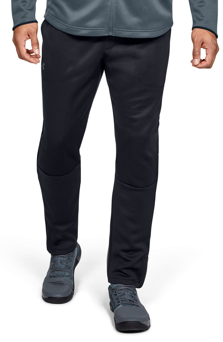 UNDER ARMOUR MK-1 Performance Warm-Up Pants, Main, color, BLACK/ PITCH GREY
