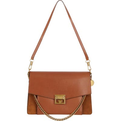 Givenchy Medium Gv3 Leather Crossbody Bag - Brown