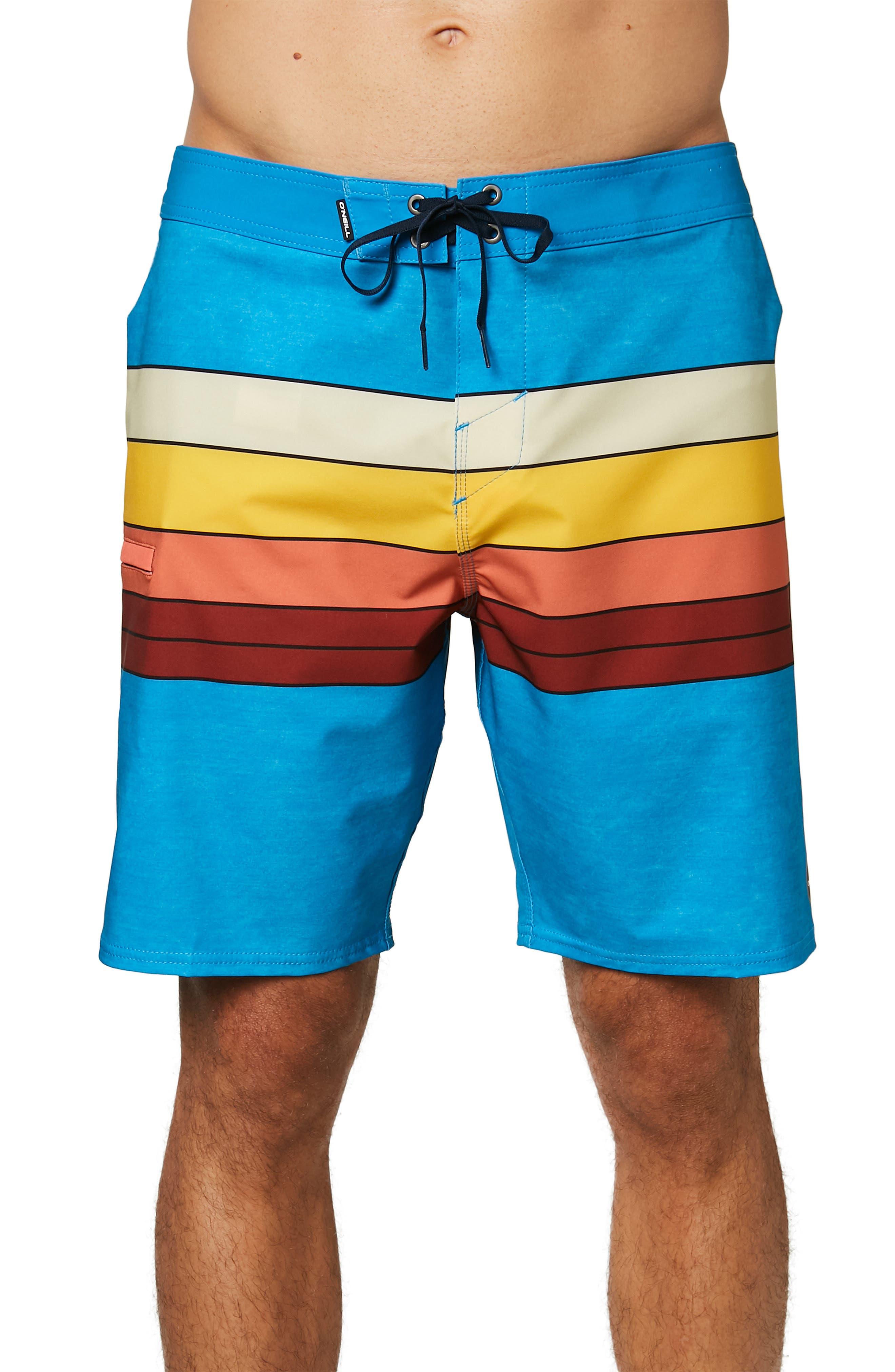 Image of O'Neill Hyperfreak Heist Stripe Boardshorts