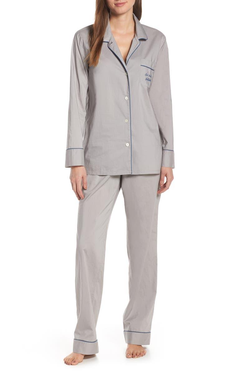 J.CREW Vintage Pajamas, Main, color, VINTAGE DOVE