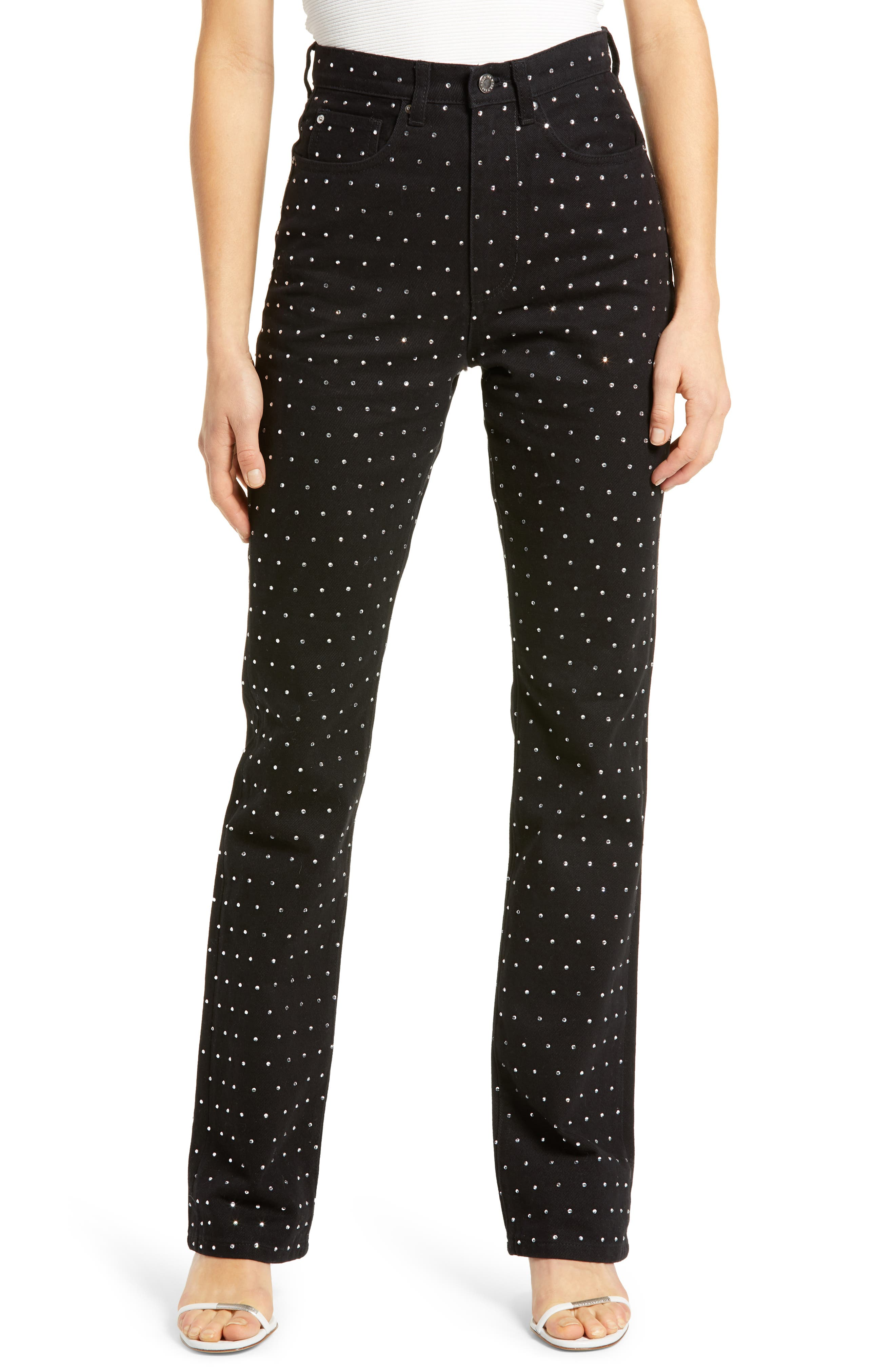 Women's We Wore What Dot High Waist Baby Bootcut Jeans