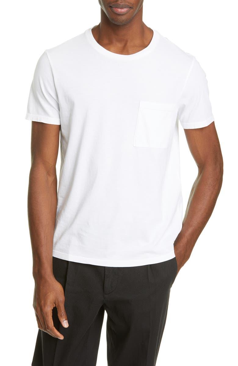 BARENA VENEZIA Giro Pocket T-Shirt, Main, color, BIANCO