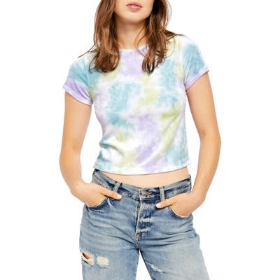 Free People Bright Eyes Tie Dye Tee, Blue
