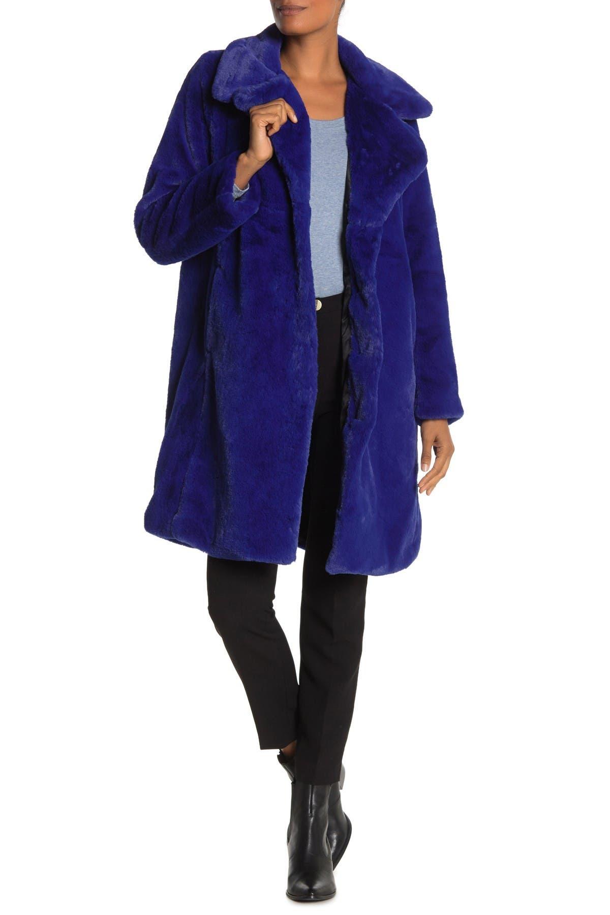 Image of AVEC LES FILLES Faux Fur Coat