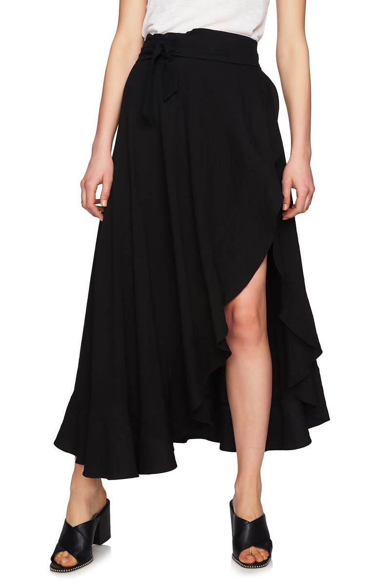 1.STATE Ruffle Wrap Maxi Skirt, Main, color, 006