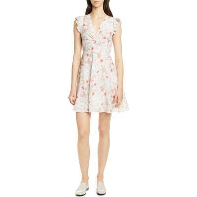 Rebecca Taylor Kamea Stretch Silk Dress, White